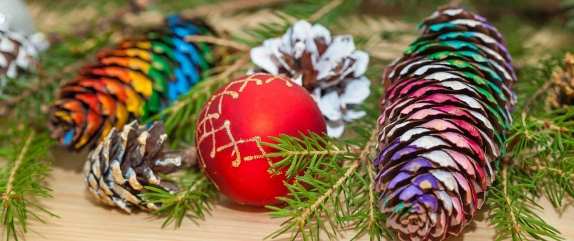 decoración navideña colorida