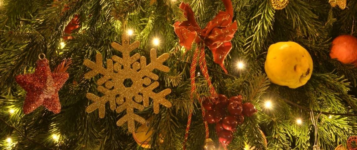 decoración navideña natural