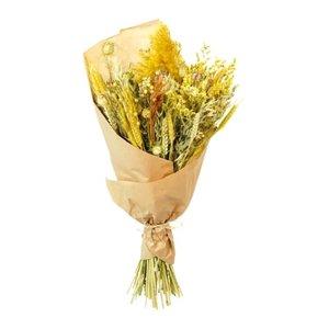 ramo de flores secas amarillo